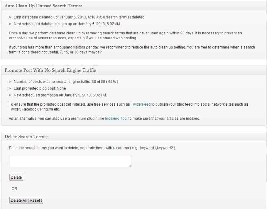 "État du plugin WordPress ""SEO SearchTerms Tagging 2"""
