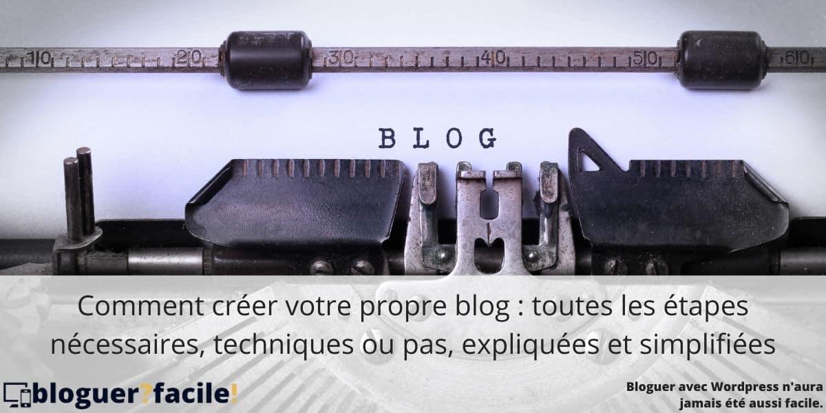 créer son propre blog